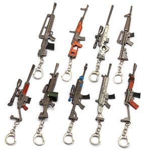 Battle Royale Keychain 3D Kinder Spielzeug Gun Metal Key Ring Auto Schlüsselanhänger Anhänger Porte Clef Schmuck