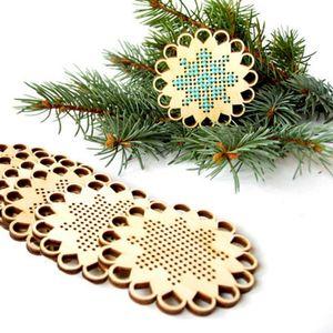Neuer Entwurf Unfinished-Kreuz-Stich Schlagwörter Weihnachtsgeschenk etikettiert Weihnachtsbaum hängende Dekoration