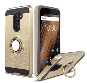 Cubierta de la caja del teléfono celular para Lg V40 Q7 / Q7 PLUS Stylo 4 K10 2018 k30 Rotación de 360 grados Cubierta completa Caja de soporte para el anillo de soporte