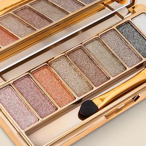 Professional EyeShadow Maquiagem 9 cores Diamante Brilhante Maquiagem Eyeshadow Nu Smoky paleta de maquiagem grátis DHL 131