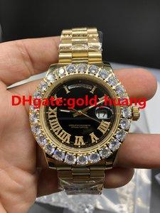 2018 nueva de 43 mm de lujo garra Bisel diamantes grandes reloj del hombre automático, relojes de los hombres de acero inoxidable de alta calidad 36969