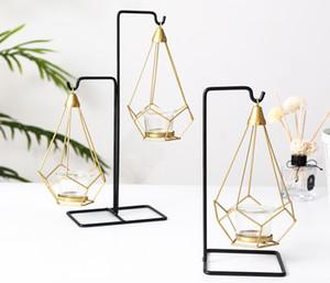 Nordic Luxo Luz Castiçal de Metal Mesa Romântico Adereços de Jantar À Luz de Velas de Casamento Romântico Crative Decorações Decorativas Ornamentos Suporte de Vela