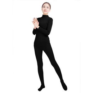 Ensnovo костюмы для тела для женщин с длинным рукавом Turleneck Unitard лайкра боди нейлон пользовательские костюмы кожи унисекс всего тела Колготки