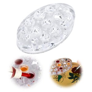 Oval Clear Acrylic Pigment Cup Cap Rack Permanent Tattoo Ink Cup Holder Stand 15 Holes Tattoo Stand and Racks