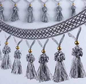 12 Metri Hydrange Tassels Bead Pendant Hanging Lace Trim Ribbon per le tende della finestra Wedding Party Decorare Abbigliamento Cucito fai da te