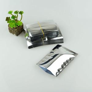 Gümüş Alüminyum Folyo Düz Çanta, 200 adet 9x13 cm Alüminize mylar Çerez Ambalaj Kılıfı, Isı Açık Mühürlenebilir Gıda Depolama plastik Çuval Ping Cep
