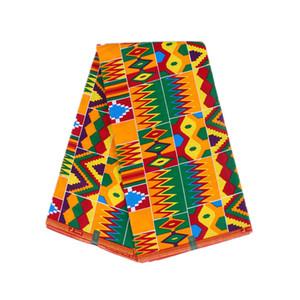 Prints cera tejido 100% algodón tejido ankara 6 yardas cera tela cera africana hollandais envío rápido WB-01