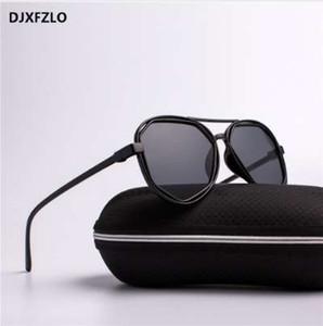 DJXFZLO gafas de moda pequeño marco polígono lentes de sol transparentes gafas de sol hombres diseñador de la marca Vintage gafas de sol hexágono uv400