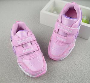 Crianças bebê rosa bonito lindo calçados casuais peso leve 2018 novo calçado confortável