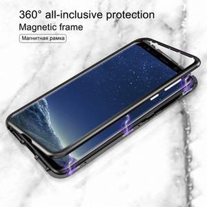 Magneto Magnetic adsorção, Metal, Vidro Case for Casos Samsung Galaxy S8 Além disso tampa traseira para Samsung Galaxy S9 Além disso S7 Nota 8
