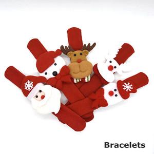 Vente chaude cadeaux de Noël Slap Bracelets Bracelet Enfants enfants Père Noël slap pat cercle cercle Bracelets décorations De Noël Cercle DHL