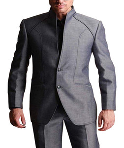 Solovedress Gery 2 Stück Männer Anzug Classic Fit Blazer mit zwei Knöpfen Bester Mann-Klagen Weding Prom Smoking Jacket Pants Anzüge Set nach Maß