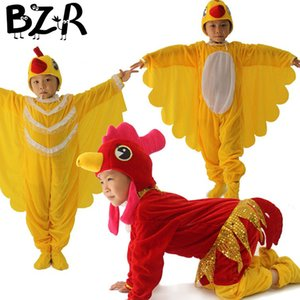 Bazzery Enfants Cosplay Vêtements Unisexe Spectacle De Scène Animal Cosplay Costumes Garçons Fille Coq Poule Chick Performance Drame Porter Costume