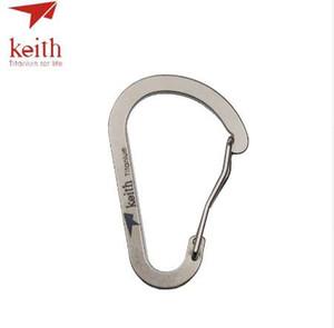 Carabiner D Titânio Keith Buckle Camping Outdoor Forma Equipamento Tool Key Bolso Gancho TI1170 EDC Clip 7.5g Chain Mpvea
