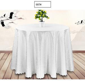원탁 천 토퍼 식탁보 고급 폴리 에스터 새틴 테이블 커버 방수 웨딩 파티 식당 연회 홈 인테리어