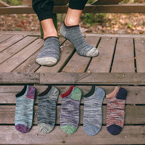 3D Men Socks Invisible Men's Ankle Socks No Show Boat Socks Slippers Shallow Mouth Male Short Men Meias Sokken