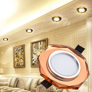 Cristal Plafonnier 3W 5W AC90-260V Moderne LED Lampe En Allée De Couloir Corridor Lumière Porche Lampe Hall Éclairage Coin lampe Décoration Cuisine