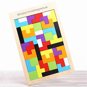 Wooden Tangram Brain Teaser Puzzle Toys Tetris Game Girls Boys Preschool Magination Intellectual Educational Kid Gift Funny gadgets