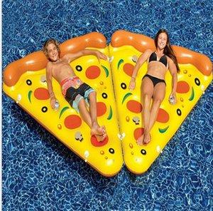 에어 매트리스 수영 뗏목 슬라이스 장난감 물 침대 매트리스 피자 거대한 부동 풀 수레 수영 링 노란색 풍선 피자 Bakax