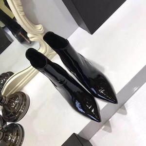 Nouveau luxe femmes cheville HLAF chaussures à talons hauts 10 cm laine chaussettes bottes dames chaussures à talons hauts prune talon taille 35-40