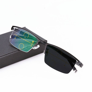 Óculos de Leitura Photochromic Multifocal progressivo Óculos Flexível Templo Pernas de Alta Qualidade Meia Armação Óculos de Leitura