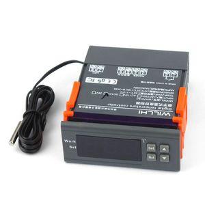 12V / 24V / 110V / 220V 10A Contrôleur de température numérique LCD Régulateur électronique Thermostat avec sonde pour Aquarium Reptile sol CF chaud