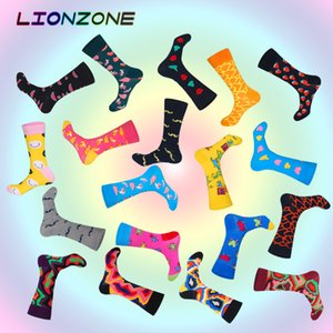 Newly Neutral Socks Funny Men&Women Fruits Lava Mustache Designer High Quality Combed Cotton Happys Socks Fashion gay