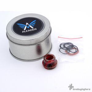 Aleader AS101 22 mm RDA Caps Vape Accesorio de resina Punta de goteo con caja de metal para minorista Epacket Envío gratis