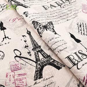 인쇄면 리넨 직물 퀼트, DIY 봉제, 소파, 커튼, 가방, 쿠션, 가구 커버 재질, 에펠 탑, 반 미터