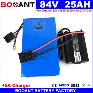 Batería de litio de 84V 25AH 1500W E-Bici para Original LG 18650 celdas de formato 84V 25AH 3500W 23S 8P batería + 5A cargador de envío