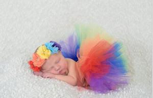 Neugeborene Fotografie Props Kostüme Junge Mädchen-Kleidung-Rock Foto Baby Pettiskirts Kopfbedeckung Zubehör Fotografie Props