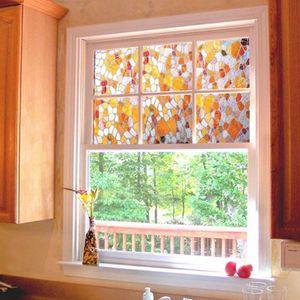Adoquines de colores Película de vidrio Decorativos para el hogar Vidrios para ventanas de colores Cuarto de baño Proteger la privacidad Películas decorativas 45x100 cm