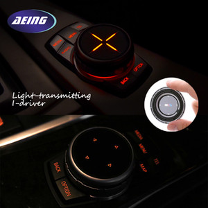 ABS Car Styling Botones multimedia que cubren pegatinas iDrive para BMW X1 X3 F25 X5 F15 X6 F16 F30 F10 F07 E90 E60 F11 5 Series
