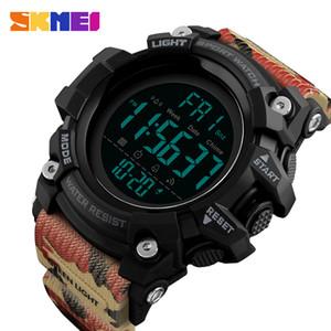 SKMEI 브랜드 남성 야외 군사 스포츠 시계 패션 LED 디지털 카운트 다운 2 시간 알람 시계 5 바 방수 손목 시계 Relogio Masculino