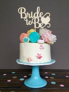 Gelin duş kek topper, Gelin olmak topper topper, gelin duş süslemeleri, nişan süslemeleri, düğün Parti Malzemeleri