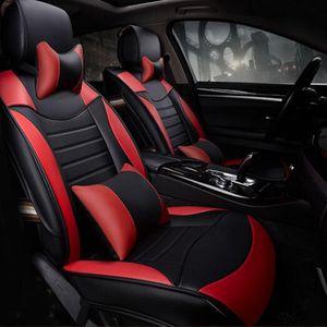Universal Fit Car Accessoires Intérieur Housses De Siège De Voiture Set Pour Sedan Half Surround Conception PU En Cuir Adjuatable Sièges Couvre Pour SUV