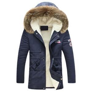 Мужская зимняя куртка 2018 Новая мода Windproof Warm Wool Liner Зимняя куртка Мужчины с капюшоном Parka Men Coat