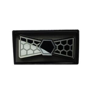 Wedding Glossy Black Mirror Fashion Acrylic Bow Tie Groom Butterfly Tie Moda Uomo Accessorio Boy Bow Ties Regalo fidanzato