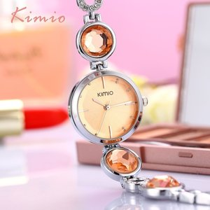 KIMIO Fanshion Qualité Cristal Diamant Bracelet Montres À Quartz Montres Femme Montres 2018 Marque De Luxe Dames Montres-Bracelets Pour Femmes S924W