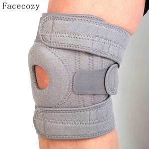 Facecozy unisex 4 resortes de soporte Escalada rodillera evitar lesiones articulación de la rodilla Guardia de seguridad al aire libre deportes atléticos Rodilla Ciclismo Protector Cap