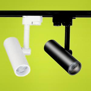 8 pçs / lote 7 W 10 W 15 W COB CONDUZIU a luz da trilha AC85-265V Trilho da trilha LED spot light Luzes da loja de roupas Iluminação industrial Luminárias de parede