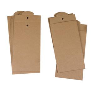 50 pcs personnalisé Paquet Au Détail Kraft Boîte De Papier Pour iPhone 8 8 Plus Protecteur D'écran En Verre Trempé Boîte D'emballage