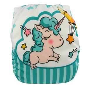 Couche Lavable Baby Stoffwindeln Digital Position Unicorn Waschbar Baby Stoffwindel Cover Einhorn Wiederverwendbare Windeln Fralda