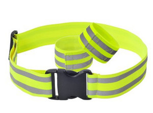 Cycling night running 5CM wide adjustable elastic band reflective safety belt can be customized LOGO wholesale Highlight reflective