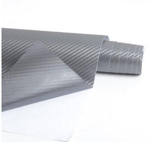 3D Carbon Fiber Vinyl Car Wrapping Foil Carbon Fiber Car Decoration Internal Sticker Many Color Option DIY Car Styling