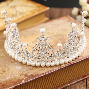 Le gâteau de bijoux de mariée de perle lourde a cuit la couronne de mariage de bébé de couronne d'anniversaire