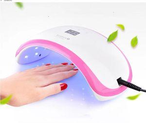 Nail Dryer 36W Led UV Nail Lamp for Finger Nails and Toe Nails Nail Polish Dryer with Sensor White+Pink