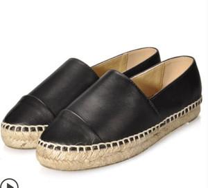 Frauen Espadrilles Mode Marke Damen Lammfell dicker Boden lässig Original Designer luxuriöse Echtleder Halbschuhe Flats Schuhe