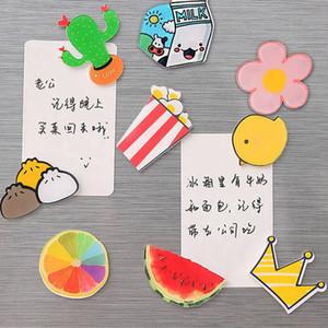1 Unids Creativo Inicio Mensaje Notas Pegajosas Imán de Nevera de Cocina Encantador de Dibujos Animados Juguetes Educativos regalos