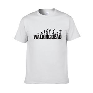 Hombres especiales 100% algodón The Walking Dead Logo Camisetas Hombre O-cuello Gris Manga corta Camisetas Tamaño grande XS-XXL Camisetas